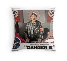 "Danger 5 Lobby Card #5 - ""Ich comme Mutti"" Throw Pillow"