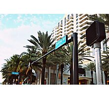 Collins & 16th - South Beach Photography Photographic Print