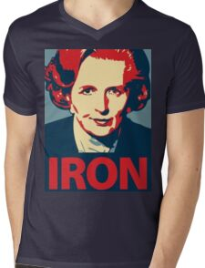 IRON LADY Mens V-Neck T-Shirt