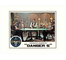 "Danger 5 Lobby Card #8 - ""Die John Baccarat!"" Art Print"