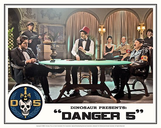 "Danger 5 Lobby Card #8 - ""Die John Baccarat!"" by Danger Store"