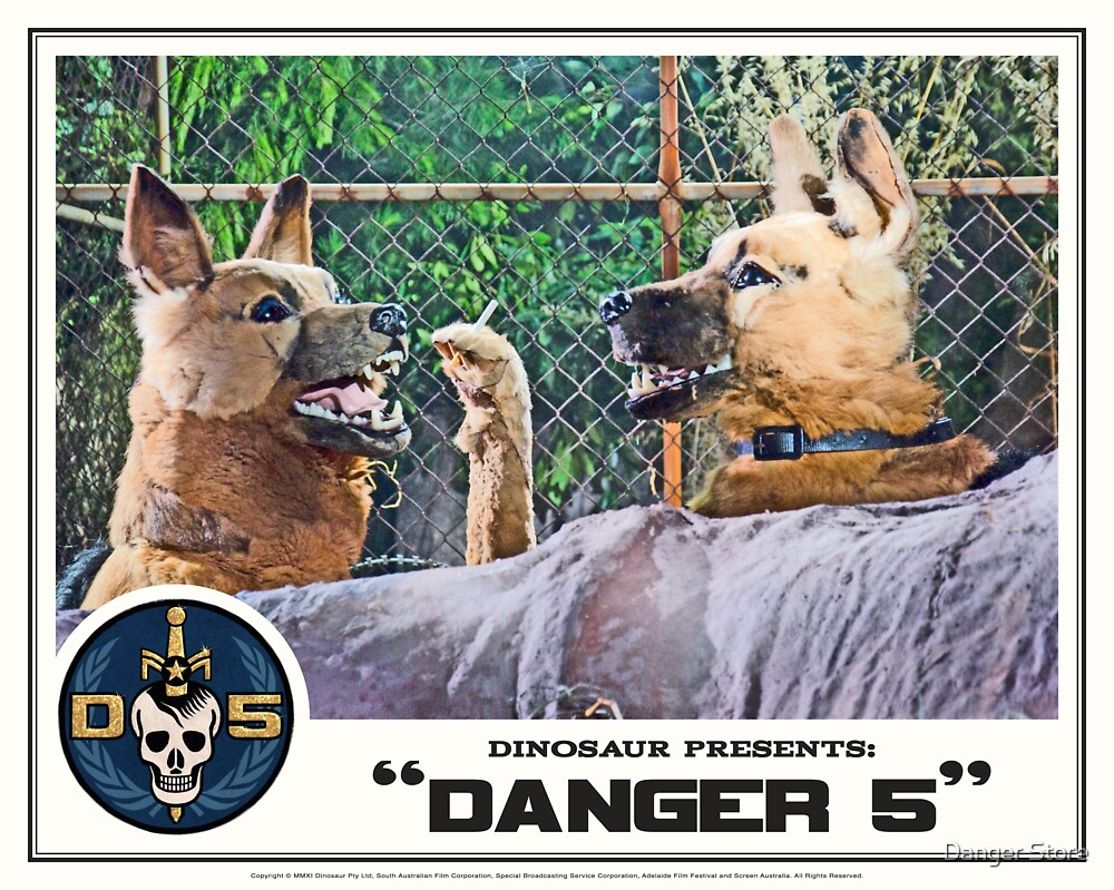 """Danger 5 Lobby Card #11 - """"Hast du feuer mein liebe?"""" by Danger Store"""