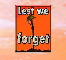 LEST WE FORGET iPHONE C. by Jon de Graaff