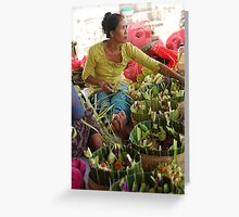 Offering in Bali Greeting Card