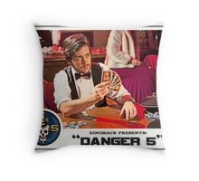 "Danger 5 Lobby Card #12 - ""Hein's wife"" Throw Pillow"