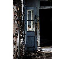 Robin's Egg Blue Door Photographic Print