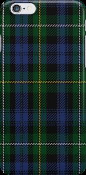 01873 Campbell of Argyll Clan/Family Tartan Fabric Print Iphone Case by Detnecs2013