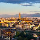 Moon over Florence by Justin Foulkes