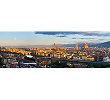 Moon over Florence Photographic Print