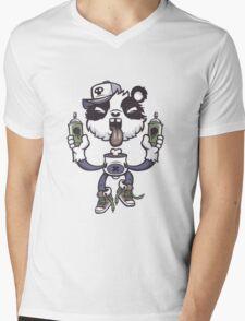 Graffiti Panda. Mens V-Neck T-Shirt
