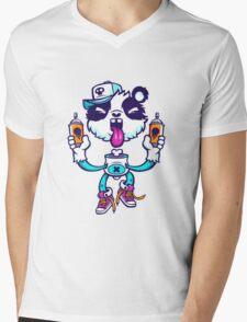 Graffiti Panda BRIGHT. Mens V-Neck T-Shirt