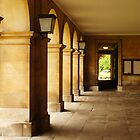 Hall of old building by flashcompact