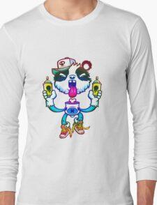 Rainbow Graff Panda. Long Sleeve T-Shirt