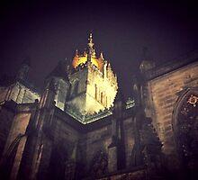 St Giles by Night Light by Talia Felix
