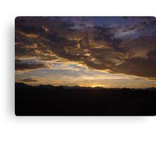 ~rocky mountain sunset~ Canvas Print