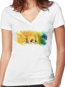 Come along, Ponds! Women's Fitted V-Neck T-Shirt