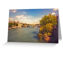 The River Seine Greeting Card