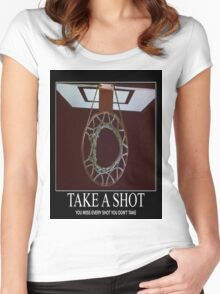 Take A Shot Women's Fitted Scoop T-Shirt