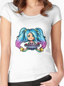 Arcade Sona - Pure Pixel Power Women's Fitted Scoop T-Shirt