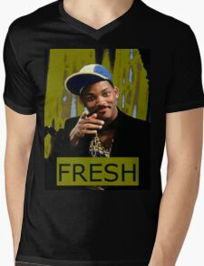 FRESH PRINCE Mens V-Neck T-Shirt