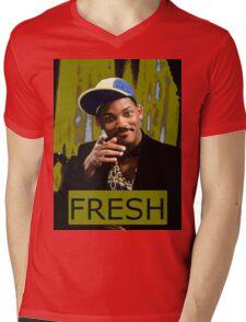 FRESH PRINCE Mens V-Neck T-Shirt