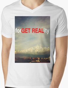 forGET REALity Mens V-Neck T-Shirt