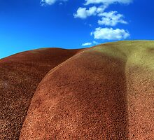 Painted Hills Blue Sky 2 by Bob Christopher