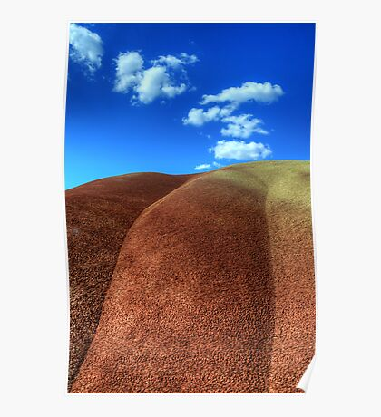 Painted Hills Blue Sky 2 Poster