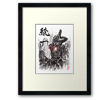 Mass Effect Legion Sumie style Framed Print