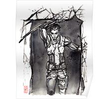 Deus Ex Adam Jensen Sumie style Poster