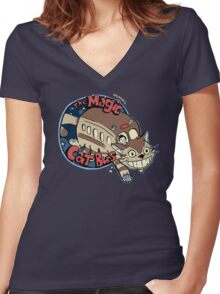 The Magic Catbus Women's Fitted V-Neck T-Shirt