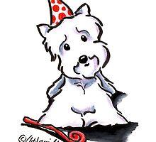 Westie Party Animal by offleashart