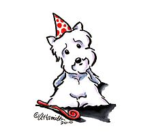 Westie Party Animal Photographic Print