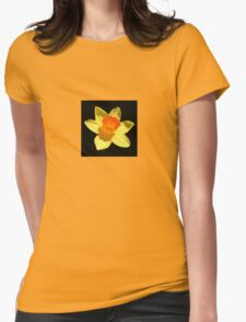 Spring Daffodil Isolated On Black T-Shirt