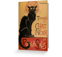 Chat Noir vintage poster Greeting Card