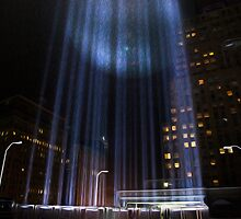 """""""The Tribute in Light"""" photographed from rooftop by michaelroman"""