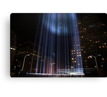 """The Tribute in Light"" photographed from rooftop Canvas Print"