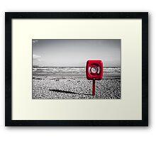 redy beachy  Framed Print