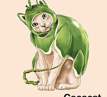 Cc - Cococat // Half Cat, Half Coconut by bkkbros