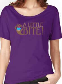 A LITTLE BITE! CAFE Shifter wolf hand and cupcake Women's Relaxed Fit T-Shirt