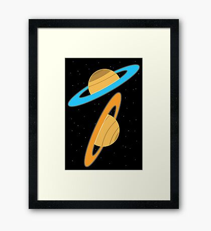 Now you're thinking with planets! Framed Print