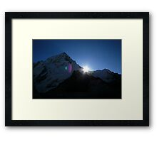 Sunrise in the Himalayas Framed Print