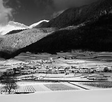 Swiss Winter Landscape with a Village. 2013 by Igor Pozdnyakov