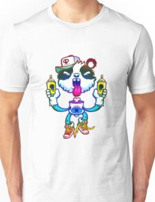 Rainbow Graff Panda. Unisex T-Shirt