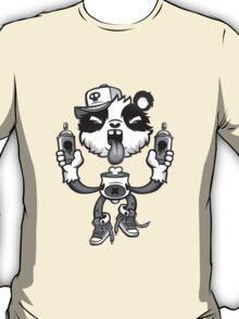 Black and White Graffiti Panda. T-Shirt