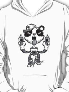 Black and White Graffiti Panda. T-Shirt
