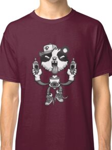 Black and White Graffiti Panda. Classic T-Shirt