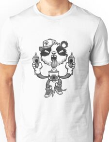 Black and White Graffiti Panda. Unisex T-Shirt
