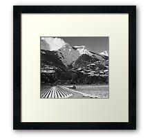 Swiss Winter Landscape with a Vineyard Framed Print