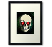 Scary Skull Framed Print